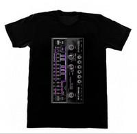 klasik müzik toptan satış-Roland 303-Gömlek 41 Asit EDM Skool Rave Evi Müzik Vintage Synthesizer Moog Mens 2018 moda Marka T Gömlek O-Boyun% 100% pamuk