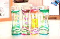 ingrosso liquido di clessidra-Floating Color Mix Illusion Timer Liquid Motion Visual Slim liquido Olio vetro acrilico Clessidra Timer Clock Ornament Desk FD5449
