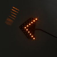espejos laterales de señal de giro al por mayor-2 UNIDS Car Side Mirror Turning Luz de Señal de Luz Flecha Forma 33 SMD Auto LED Indicadores de Giro LED Lámpara de Panel Car-styling