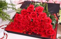 az yapay çiçekler toptan satış-Renkli gül yapay çiçekler Narin Canlı Küçük Buket El Yapımı Yapay İpek Çiçek Nemlendirici ipek gül
