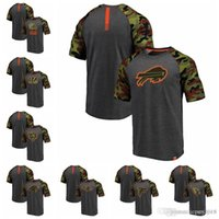 ayı profesyoneli toptan satış-Fanatics Markalı Cleveland Browns tarafından Pro Hattı Cincinnati Bengals Chicago Bears Carolina Panter Heathered GrayCamo Recon Camo Raglan T-Shirt