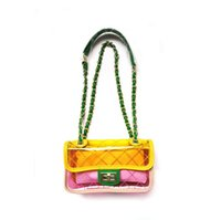 Wholesale wholesale clear pvc handbags - Transparent Bag Clear Pvc Plastic Quilted Beach Bags Chains Handbag Women Summer Bags 2018 Luxury Brand Yellow Candy Instagram