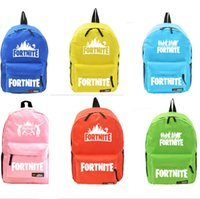 7 colors Fornite students backpacks Candy color game Unisex Student School  Book Bag Shoulder bags Travel Bag girls boys holiday gifts best 338376d1f1cf9