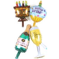 basılı parti bardakları toptan satış-50 adet / grup Çikolata Kiraz Yıldız Baskı Tatlı Kek Şekli Şişe Fincan Balonlar Doğum Günü Partisi Dekorasyon Balonlar çocuk Oyuncakları