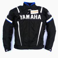 yarış ceketi motosiklet siyahı toptan satış-2017 Yaz Motosiklet Moto GP Ceket Koruyucu Ile YAMAHA M1 Yarış Ekibi Motokros Giyim Siyah Mavi