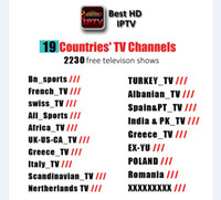 Wholesale free account - 2230+ IPTV Account subscription 1 Year Free Best HDIPTV Live Channels suit with android tv box All Sports UK Franch Italy Spain Channels
