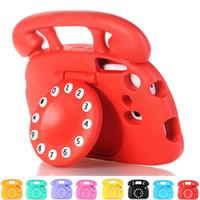durum sekmesi çizgi film toptan satış-3D Karikatür Telefon Stil Çocuk Darbeye Vaka Samsung Galaxy Tab için 3 4 Lite 7.0 P3200 T210 T230 T235 T110 T113 T116
