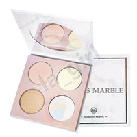 Wholesale daily wear - VENUS MARBLE Highlight palette 4colors Long Lasting eyeshadow 3D Facial Beauty cosmetic makeup daily Make Up Free Shipping