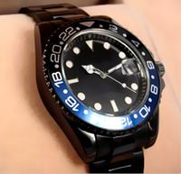 Wholesale Geneva Watches Red - Big dial 44MM Geneva watch wrist of luxury brand automatic quartz watch date men's fashion leisure sports men luxurious bracelet watch steel