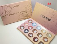 Wholesale matt shadows - Hot New Colourpop 6 color 12 Colors 15 colors Eyeshadow Fashion Pearlescent Matt Sunset Eye Shadow Pan 9 Color Optional Eyeshadow Wholesale