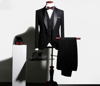 Wholesale private single - High-end private custohigh qualityNewsmen;s suits, suits, three piece suits, Korean wedding dress, groom, best man, business casual banquet