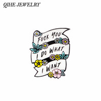 ingrosso pin potenza-QIHE JEWELRY I Do What I Want Enamel Pin Sassy Quote Hard Enamel Pins Feminist Spille Funny Badge per le donne Girl power