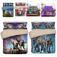 Wholesale king size single beds for sale - 9 Designs D Printing Game Fortnite Bedding Set Duvet Cover TWIN FULL KING Single Size Quilt Covers Bed Blanket with Pillow case Pillowcase
