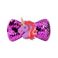 ingrosso accessori per capelli barrettes laterali-Le unicorno ragazze hairchip accessori per capelli europei e americani per bambini neonate paillettes arco stelle forcine laterali