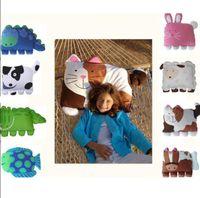 Wholesale Kids Pillowcases - about 80CM*55CM Animal Shape Pillow Case Baby Kids Toddler Nursery Cartoon Animals Pillowcase Pillow Cover Pillowcases KKA4515