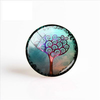 fotos de la vida al por mayor-2019 Nuevo Arte Planta Pintura Foto hecha a mano Cabochons Dome Life Trees Glass Photo Cabochon 25mm Regalos Mujeres