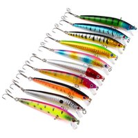 Wholesale minnow crank lures resale online - Three Sharp Claw Fishing Lure Pencil Popper Minnow Crank Rattlin Fishings Hook With D Holographic Eye Fish Baits Vivid sb UU