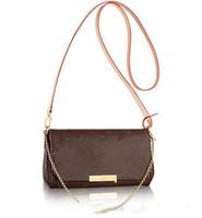 çanta çanta debriyaj çantaları toptan satış-Gerçek deri 40718 favori lüks çanta moda crossbody kadın çantası favori tasarım zincir debriyaj deri kayış