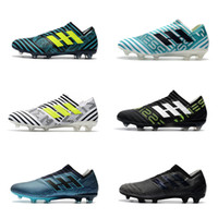Wholesale ground yellow - 2018 New Top Quality Nemeziz 17+ 360 Agility FG Football Shoes Men Firm Ground Messi 17.1 Football Boots Outdoor Soccer Shoes Cleats