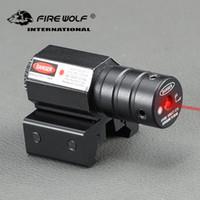 Wholesale pistol rail sight resale online - FIRE WOLF Meters Range nm Red Dot Laser Sight For Pistol Adjust mm mm Picatinny Rail