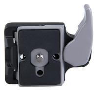 câmera de telefoto freeshipping venda por atacado-Câmera preta 323 adaptador de liberação rápida com placa 200PL-14 Compat para Zhiyun Crane Crane-M etc