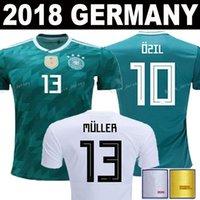 Wholesale germany wholesale - Germany 2018 world cup Soccer Jersey 10 OZIL 13 MULLER 8 KROOS 7 DRAXLER football shirt home alemania HUMMELS WERNER KROOS GOTZE Uniforms