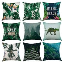 Wholesale Green Leaves Series Decorative Throw Pillow Case Cushion Covers Square quot x quot cm x cm Set of Plant