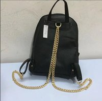 Wholesale Cross Body Backpack For Men - high quality Backpack Classic Leather gold chain cross Body handbags for women shoulder bags tote messenger bag