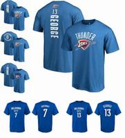 Wholesale george t shirt - Wholesale 2018-19 Hot Season OKLAHOMA Thunder 0 westbrook 13 George 7 ANTHONY ANY CUSTOM NAME AND NUMBER T-shirt