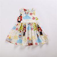 âge robe de noël achat en gros de-Baby Girl Christmas Dress filles Princesse Dress for party Enfants robes sans manches pour enfants en bas âge Mode Vêtements de Noël