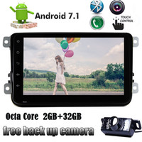Wholesale vehicle obd - Android 7.1 Car Stereo Bluetooth GPS Autoradio Double Din In Dash Navigation Vehicle Head Unit Steering Wheel Conrtol WIFI OBD for VW