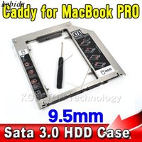unibody macbook pro a1278 venda por atacado-Kebidu 9.5mm Caso SSD HDD Gabinete Optibay Sata 3.0 2 HDD Caddy para Macbook Pro Air Unibody 13