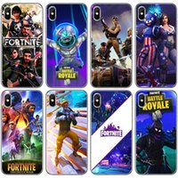 Wholesale iphone plus game case online - Fortnite Phone Cases FPS Game Designer Soft TPU Protector for iPhone X XR XS Max s s Samsung Galaxy Note9 Note8 S9 S8plus design