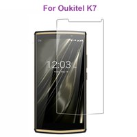 Discount tempered glass cleaner - Oukitel K7 Case Tempered Glass 100% New High Quality Screen Protector Film Phone Case for Oukitel K7 Phone Film With Clean Tools