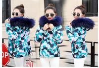 frau daunenjacke hohen kragen großhandel-Winterjacke frauen parkas für mantel mode weibliche daunenjacke mit kapuze große kunstpelzkragen mantel 2018 herbst hohe qualität