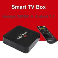 64bit mini pc toptan satış-Android 7.1 TV Box MXQ Pro Amlogic S905W Dört Çekirdekli 4k HD 64bit Akıllı Mini PC 1G 8G Wifi 4K H.265 Google Smart Media Player
