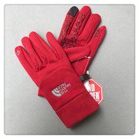 en sıcak kışlık eldivenleri toptan satış-Kış Polar Marka NF Eldiven Unisex Dokunmatik Ekran Eldiven Kuzey Rüzgar Geçirmez Telefingers Eldiven Erkek Kadın Açık Eldivenler Yüz Sıcak Eldiven Yeni