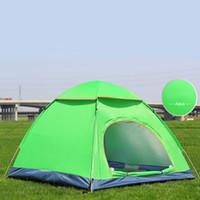 porte automatique ouverte achat en gros de-2 Portes Automatiques Tente Ouverte Instantanée Portable Plage Tente Abri Randonnée Camping Anti-UV Famille Camping Tentes Pour 3-4 Personnes Bonne Qualité