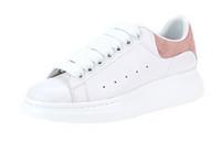 pisos para mujer al por mayor-2018 Moda para mujer de los hombres Zapatos de plataforma de cuero blanco de lujo negro Zapatos planos ocasionales Señora Negro Rosa Oro Mujeres blancas zapatillas de deporte