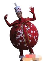 ücretsiz gönderim yetişkin hediye toptan satış-Özel Noel hediyesi noel top maskot kostüm Karakter Kostüm Yetişkin Boyutu ücretsiz kargo
