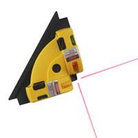 углы измерения оптовых-Горизонтальный вертикальный лазер ровный прямоугольный линия измеряя инструменты 90 градусов лазера Нивел
