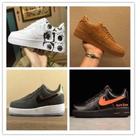 Wholesale Force Lights - 2018 new arrival forces Classical All White black low high cut men women Sports sneakers Running Shoes Forcing one skate Shoes size 36-46