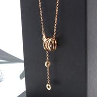 quaste großhandel-316L staniless Stahl Marke Bulgarien Halsketten Anhänger Aussage Frauen Frühling Quaste Keramik Halskette Anhänger Pullover Kette