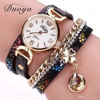 Wholesale Tan Belt For Women - 2018 New Arrival hot Women Gold Leather Wrist Watche For Women Dress Bracelet Luxury Crystal Vintage Quartz Watch Clock