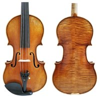 Wholesale ebony models for sale - Copy Antonio Stradivari Cremonese Model Violin with Canvas Case and Brazil Bow Rosin FPVN03