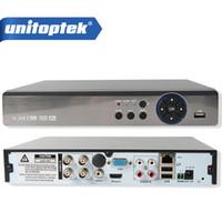 Wholesale Dvr Cctv Ip Support - 4Ch 8Ch 4MP AHD DVR NVR XVR Support 5 IN 1 AHD CVI TVI CVBS IP Camera Onvif 1080P 3MP 5MP CCTV DVR RS485 Coxial Control P2P View