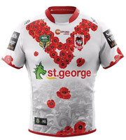Wholesale wine transfer - souvenir edition NRL National Rugby League St. George Illawarra Dragons jersey High-temperature heat transfer printing jersey Rugby Shirts