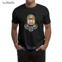 benutzerdefinierte schwein kostüm großhandel-Benutzerdefinierte natürliche T-Shirt für Männer Schwein des Krieges T-Shirt für Männer Trendy Kostüm Herren T-Shirt Gebäude S-3xl Männer T-Shirt Hip Hop
