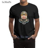 disfraz de cerdo personalizado al por mayor-Custom Natural Camiseta para hombres Pig Of War Camiseta para hombres Trendy Costume Men's Shirt Building S-3xl Men Camiseta Hip Hop