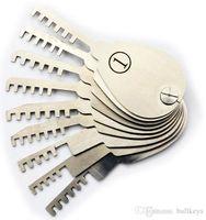 Wholesale padlock opener tool for sale - Group buy Hot sale Double Sided Padlock Picks Door Lock Opener Locksmith Tool